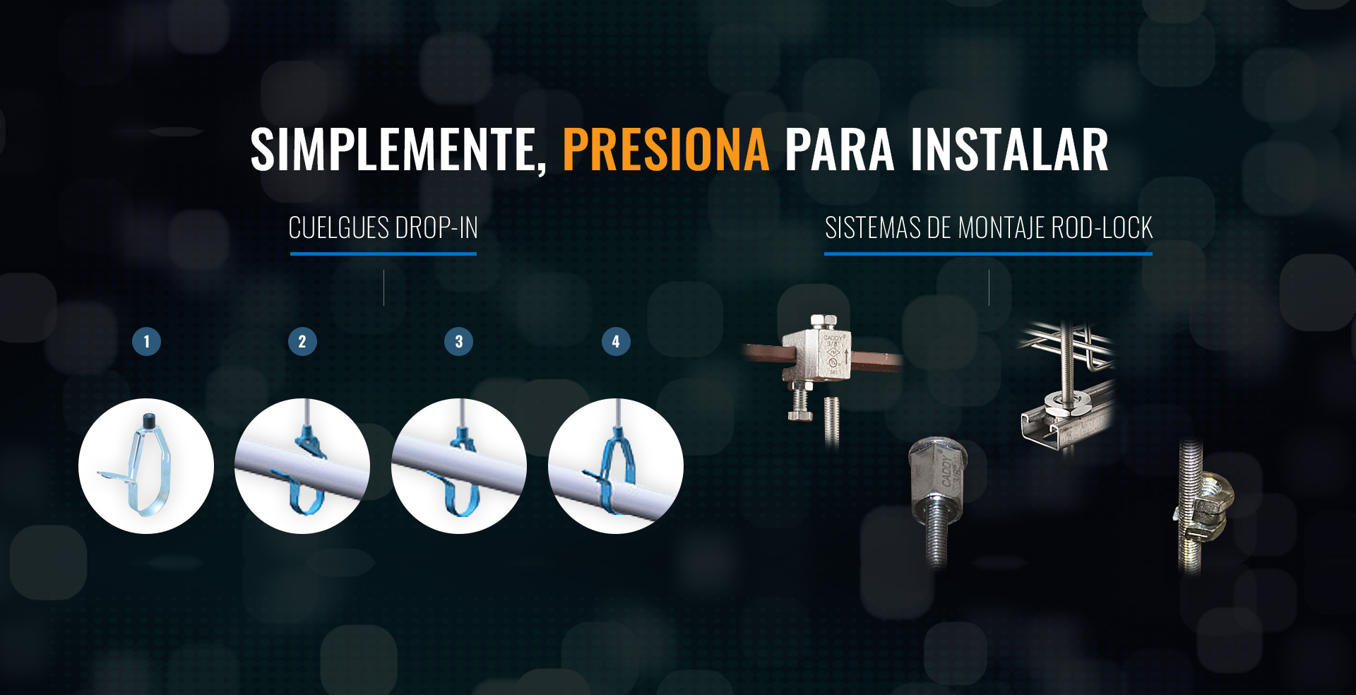 Cuelgues Drop In, Sistema de montaje ROD LOCK